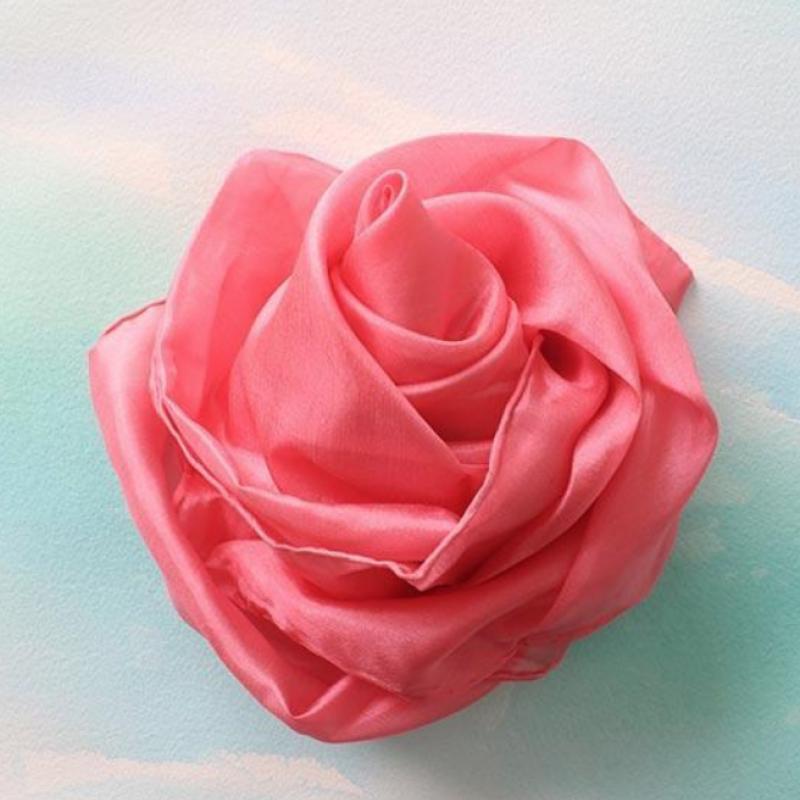 Rose lekesilke ensfarget 86cm