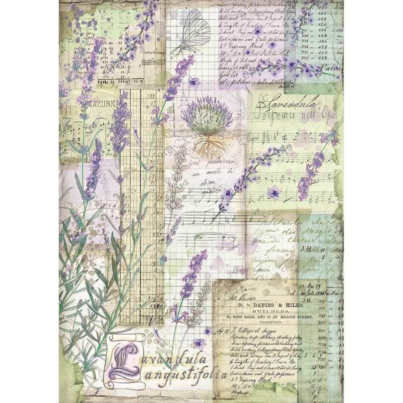 Riisipaperi Stamperia, A4-koko, Provence