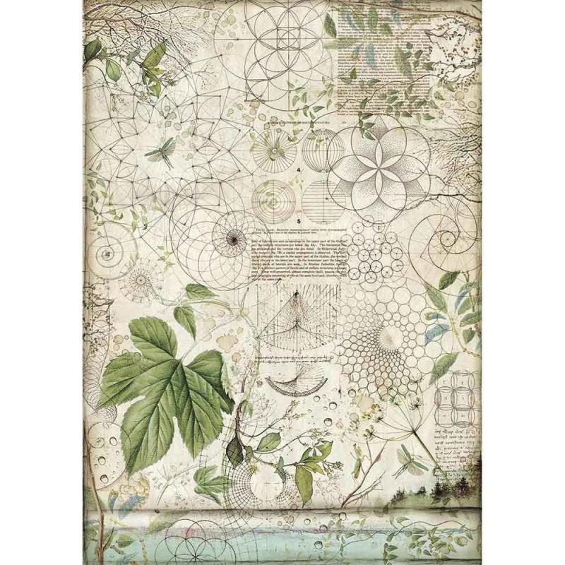Riisipaperi Stamperia, A3-koko, Forest lehti