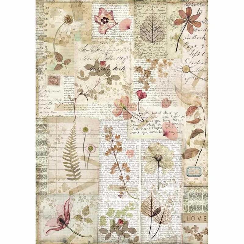 Riisipaperi Stamperia, A4, Imagine kukat