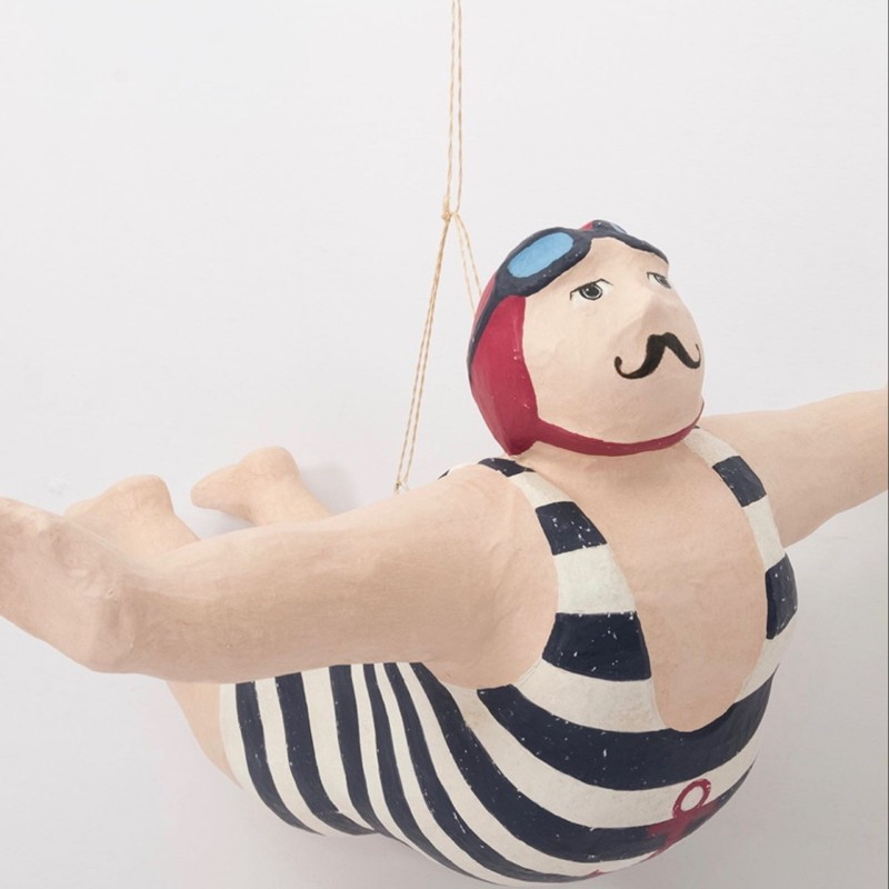 Hanging Small Swimmer in Goggles