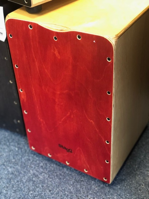 Stagg CAJ-50M Cajon Red w/ Bag