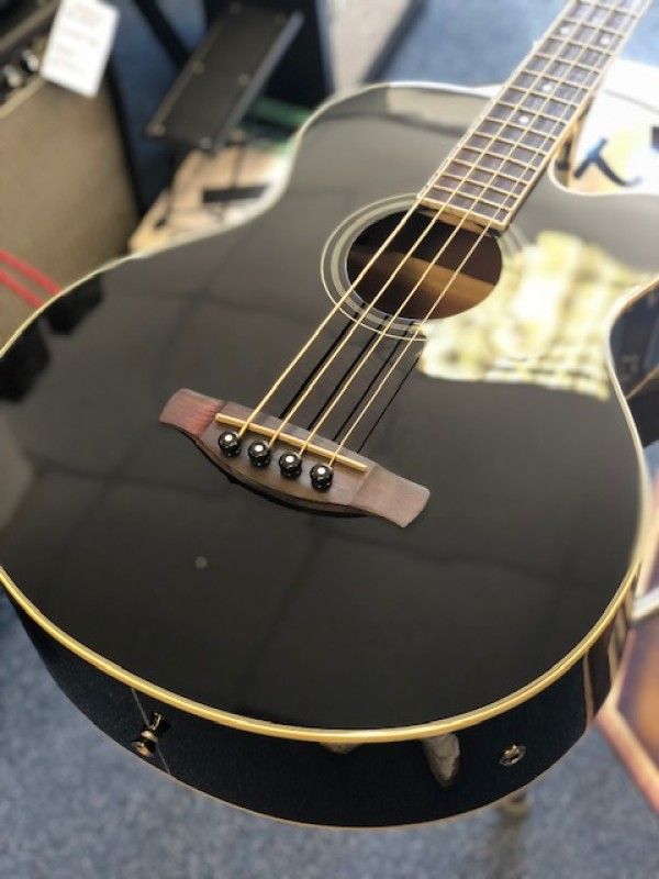 Ibanez AE Electro Acoustic bass in black