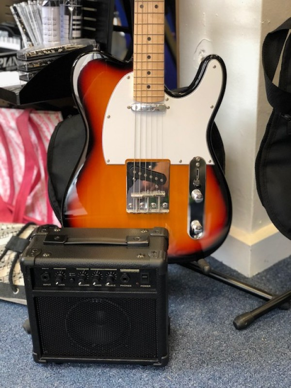 DEACON 3TS TELE COMPLETE ELECTRIC GUITAR PACKAGE