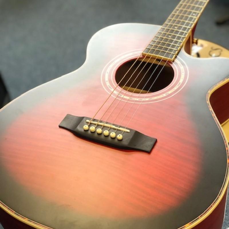 Freshman FA1a-WR Folk Cutaway guitar Wine Red
