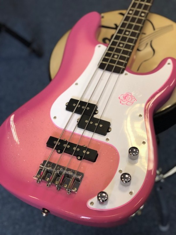 GYPSY ROSE 8637 BASS GUITAR PACK PINK