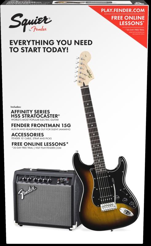 Fender SQUIER STRAT COMPLETE PACK HSS BSB W'A5W AMP