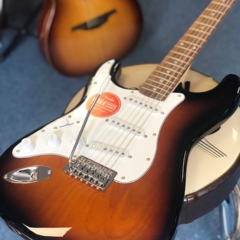 Squier Affinity Strat Brown Sunburst (left-handed)