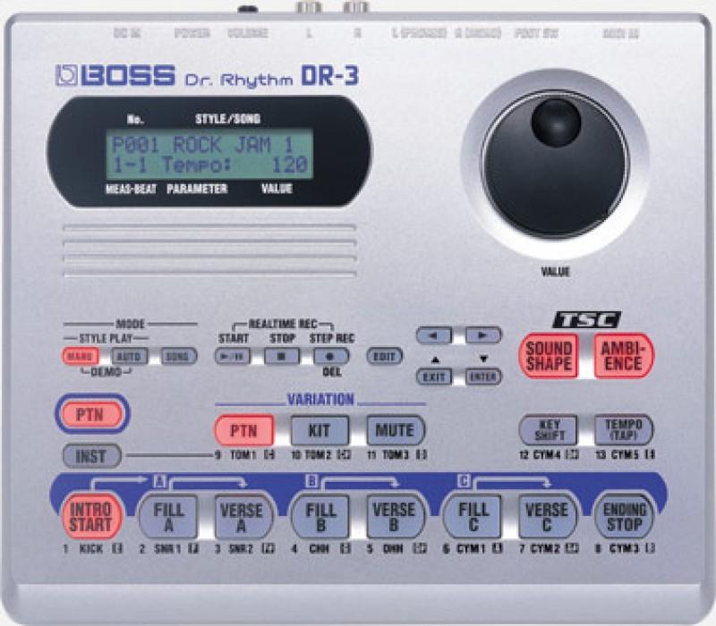 Boss DR-3 drum machine