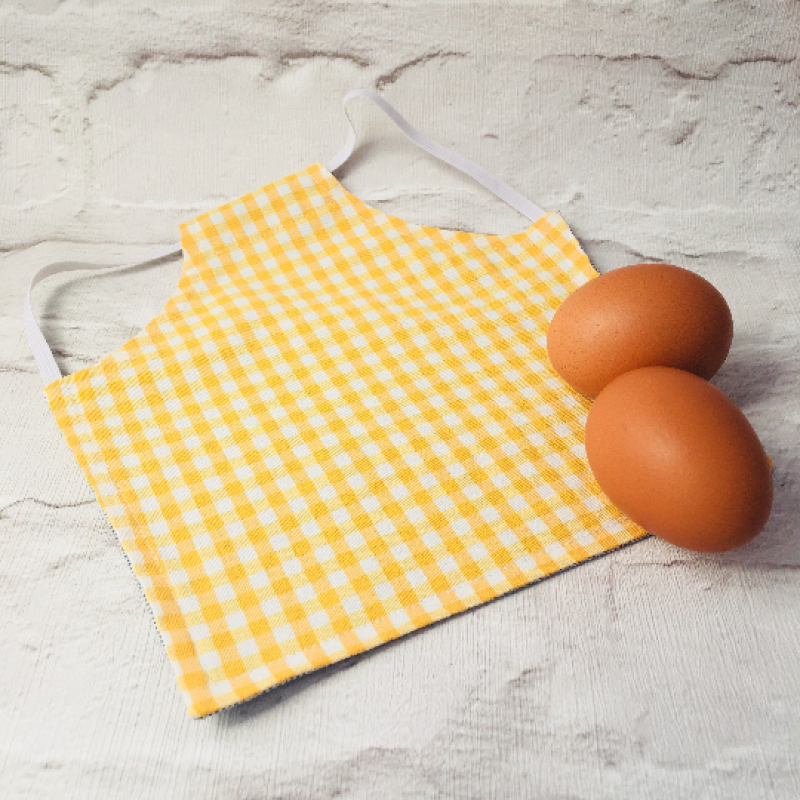 Yellow Gingham Chicken Saddle