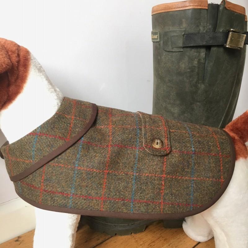 Large Traditional Tweed Waterproof Dog Coat
