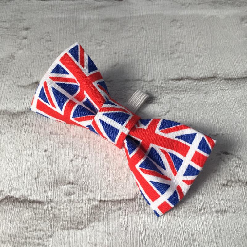 Union Jack Dog Bow Tie