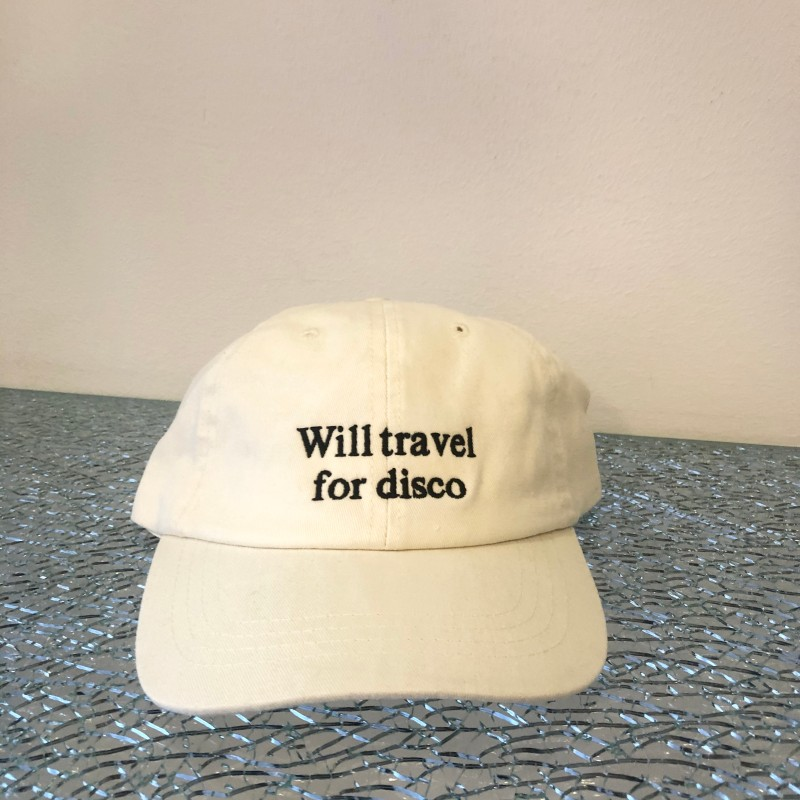 Hat, Will Travel For Disco, off white/black