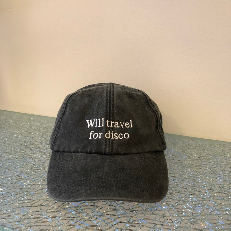 Hat, Will Travel For Disco, washed out black/white