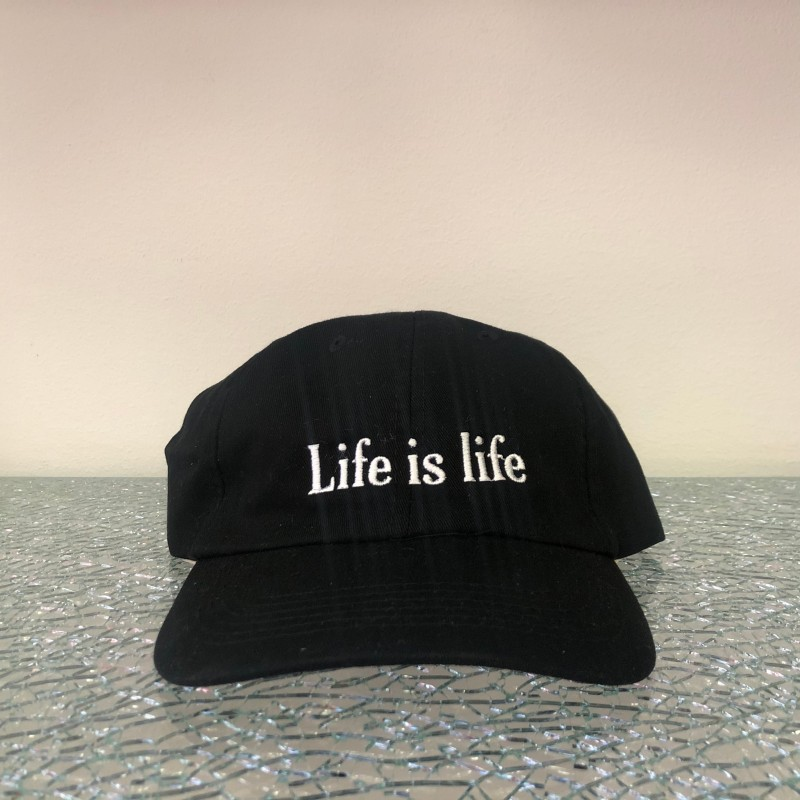 Hat, Life is life, (black/white)