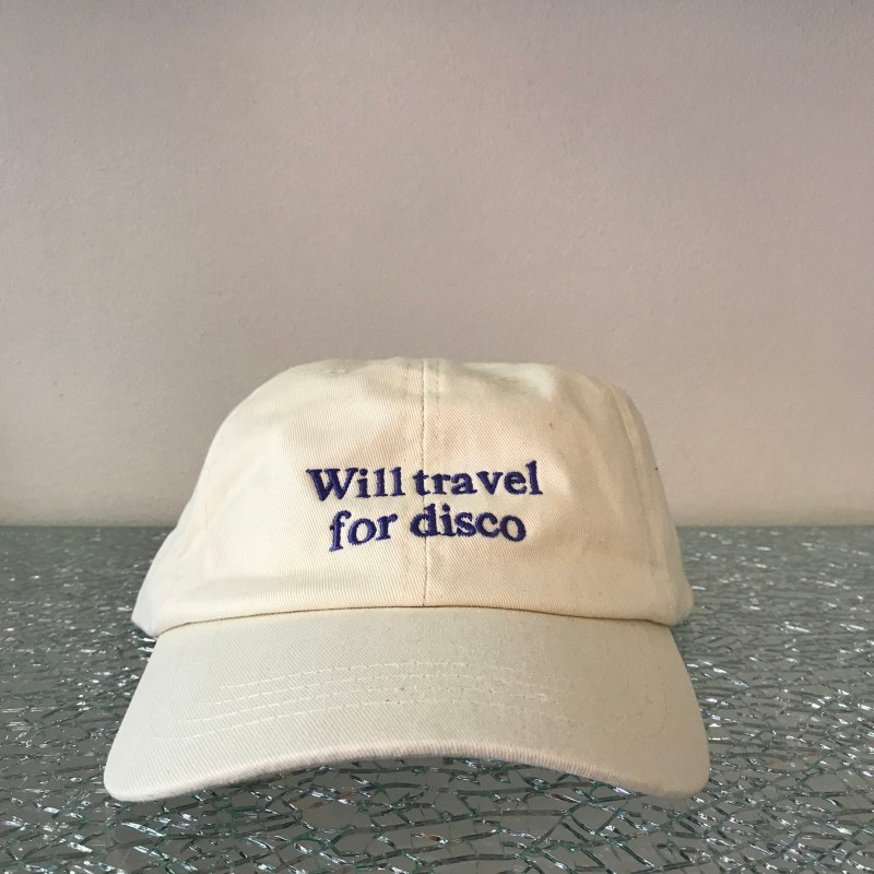Hat, Will Travel For Disco, off white/purple
