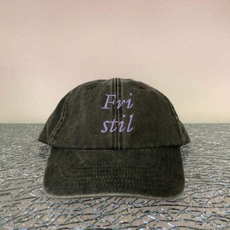 Hat, Fri Stil (olive/purple)