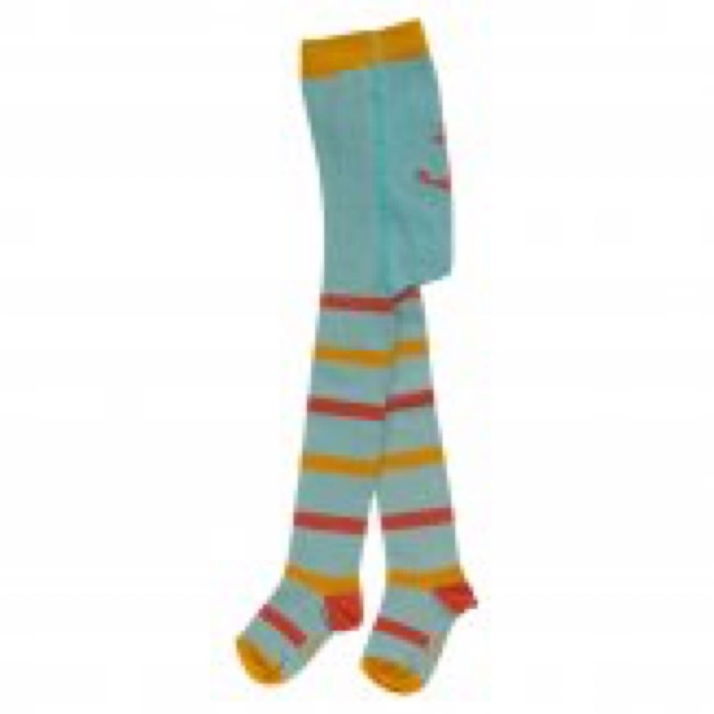Pigeon- Tights stripey Tights duck egg blue