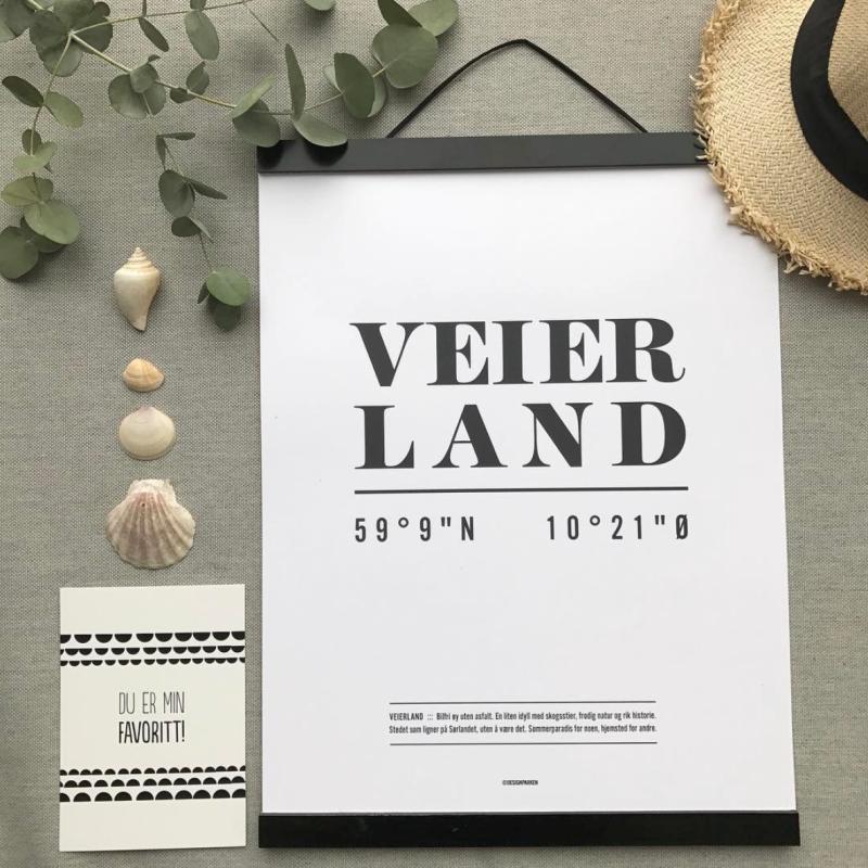Designparken - «Veierland» Koordinat plakat