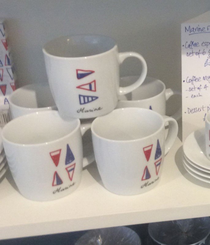 Marine sails mugs