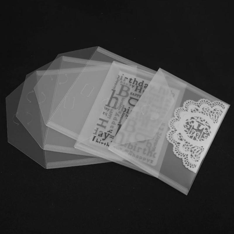 10 stk 18x13cm Clear Plastic Storage Bag for Dies & Stamp