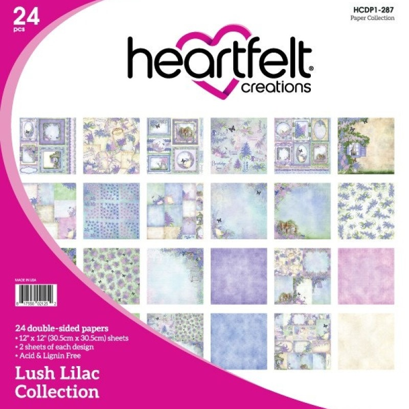 Heartfelt Creations - Lush Lilac Paper Collection