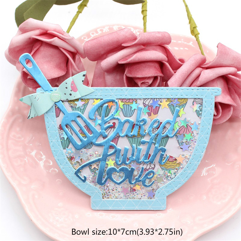 Nicole -  Baked With Love Bowl Shaker Metal Cutting Dies