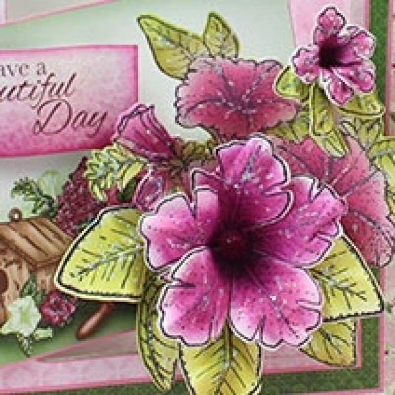 Heartfelt Creations - Classic Petunia Die and Cling Stamp Set