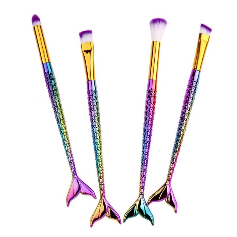 4 Pcs Brushes Set Mermaid