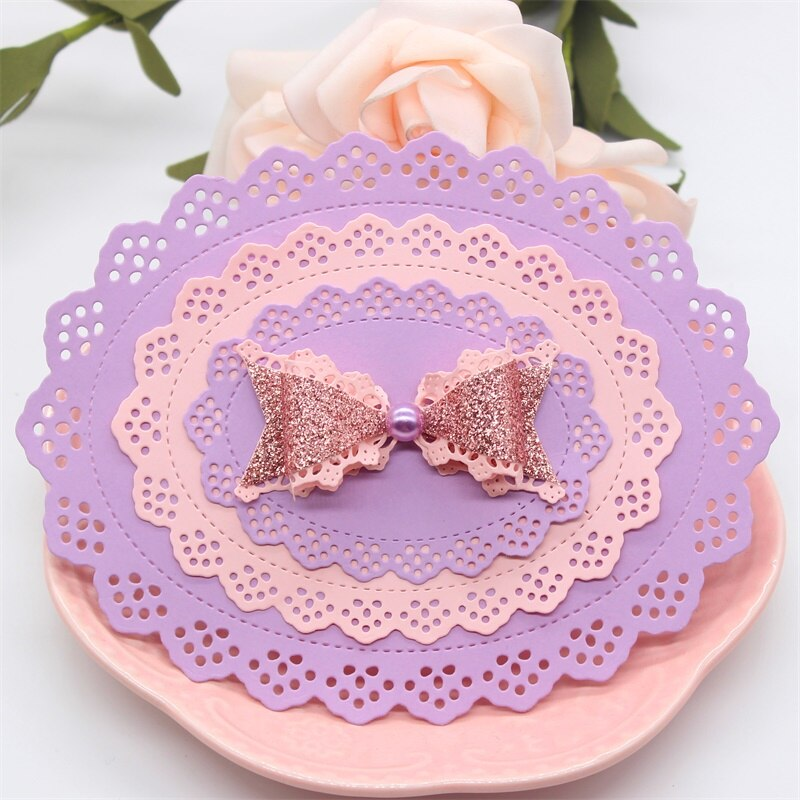 Nicole - 4 pcs Oval Lace Frame Metal Cutting Dies