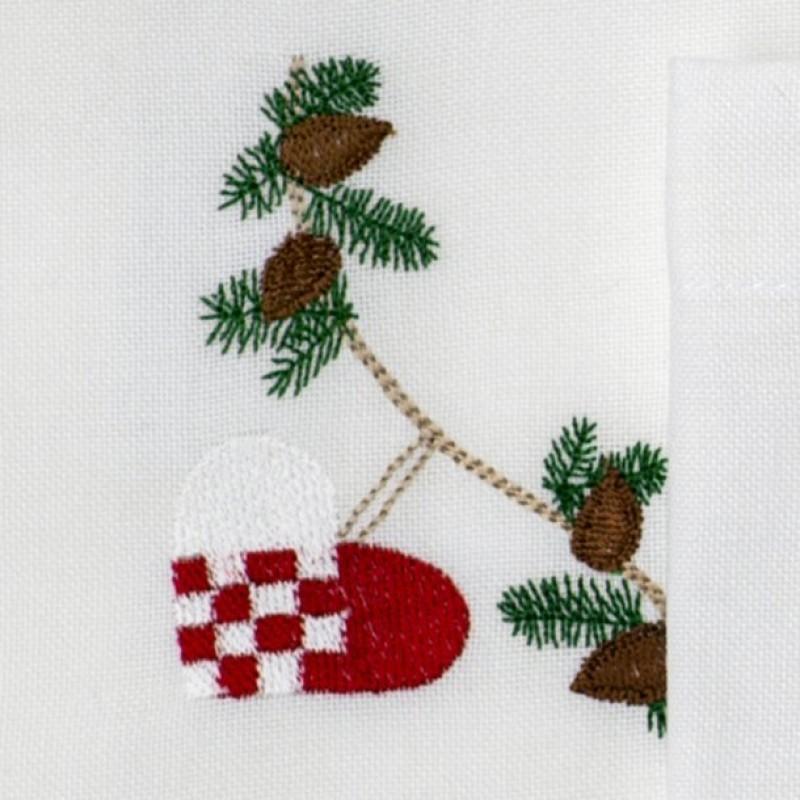 Stofserviet med julehjerte