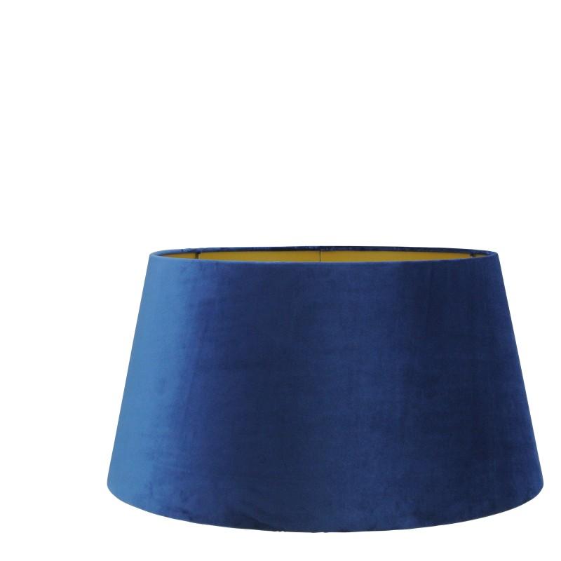 Large Handmade Velvet Lampshade with Gold Lining - Dark Blue, Ocean Blue or Black