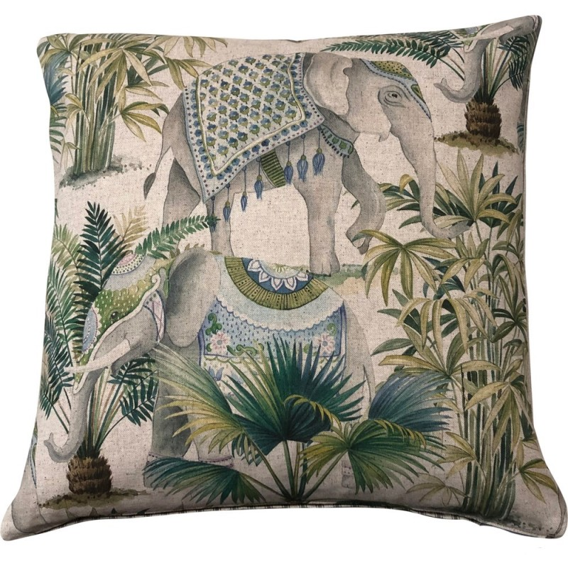 Oriental Elephant Cushion - Square - Small & Large