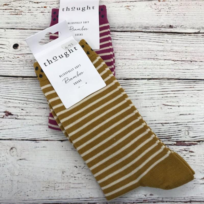 Socks - yellow stripes