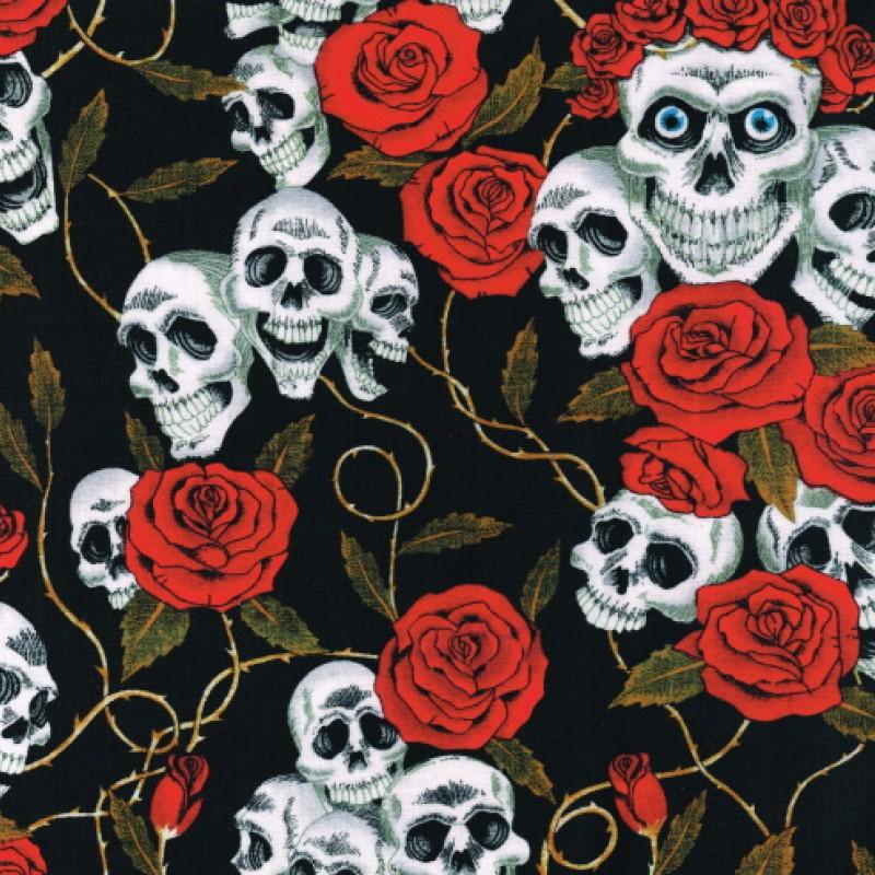 Dödskallar och rosor