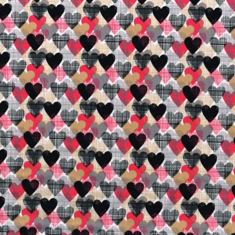 Jerseytyg hjärtan