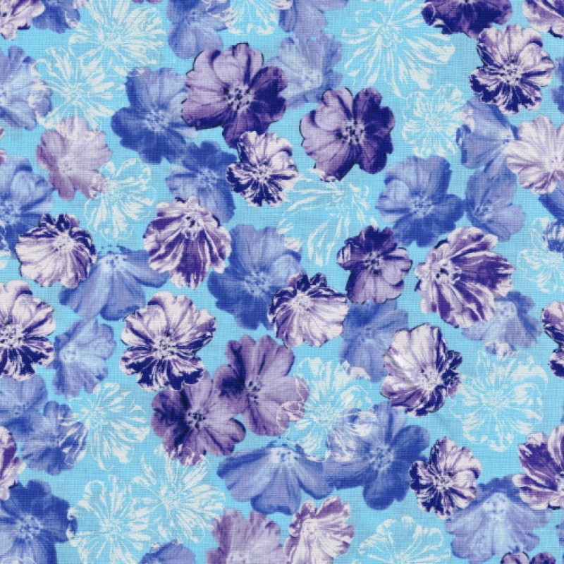 Shimmery blossom aqua