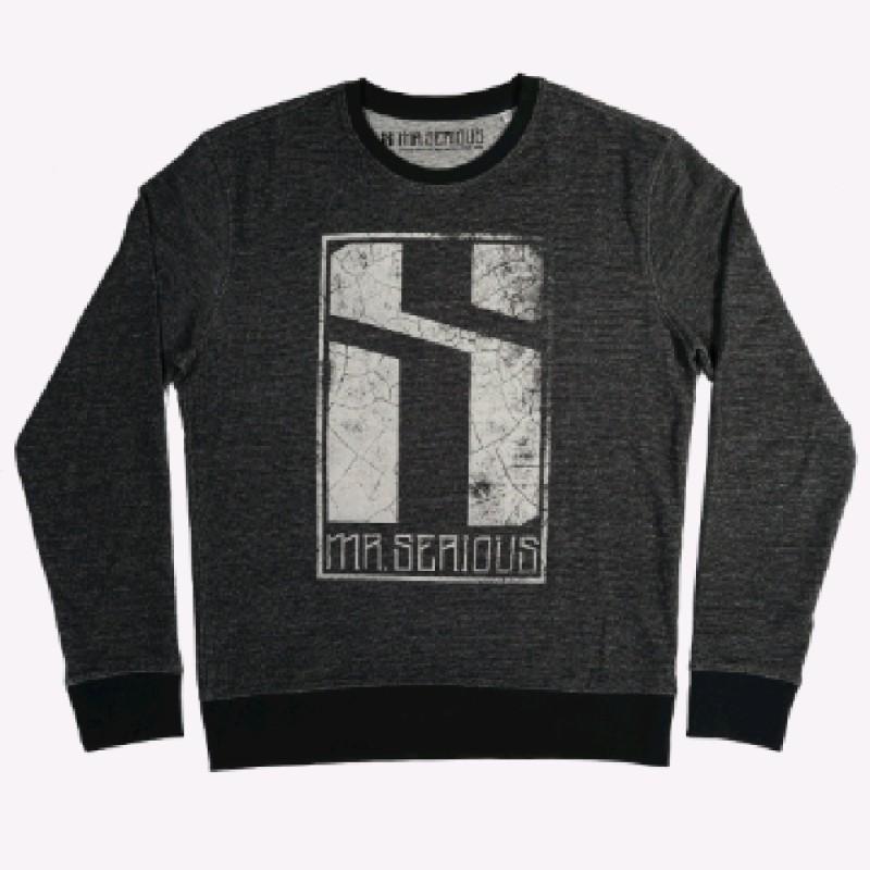 Eroded logo sweatshirt