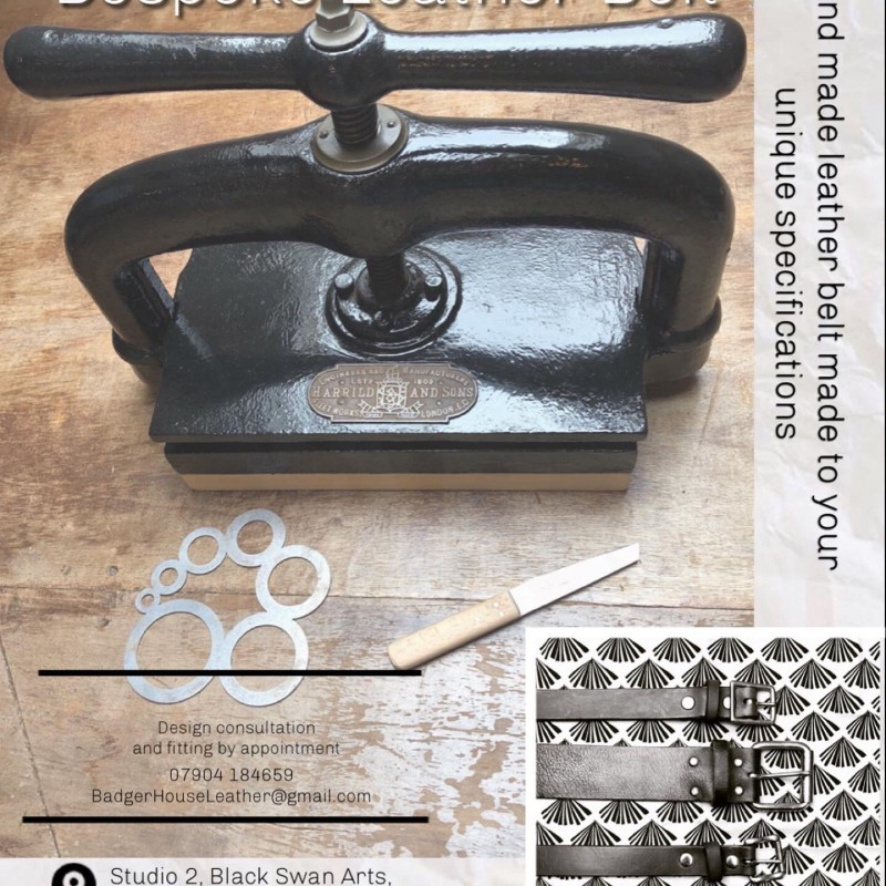 Bespoke leather belt voucher