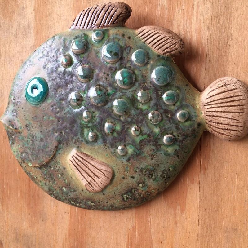 Fisk, mat grøn kuglefisk 22 cm