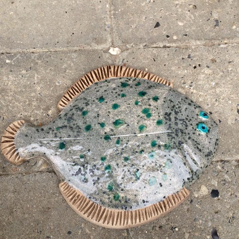 Fisk, grå/grøn rødspætte, 22 cm