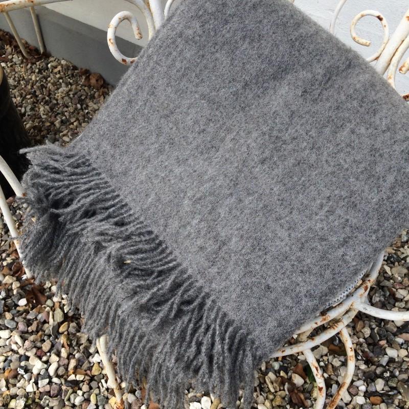 Uldplaid, grå 140 cm x 240 cm