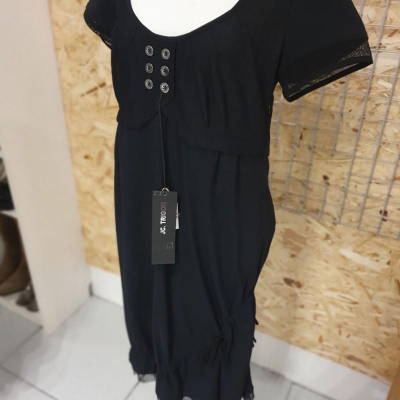 J C Trigon kjole med knapper, str. 38