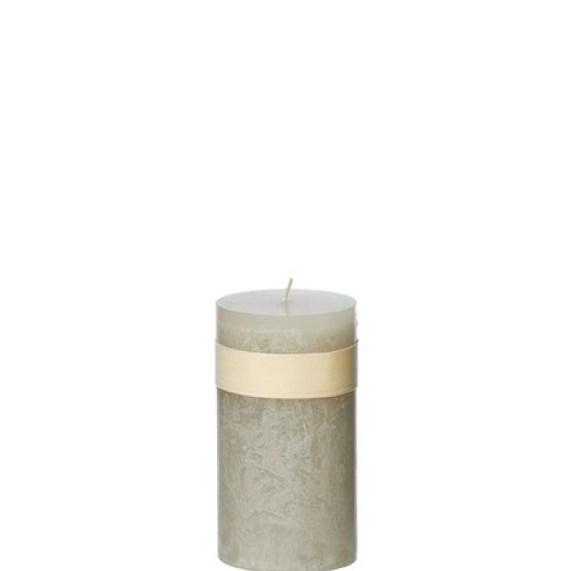 Vance Kitira Timber Candle, Smoky Grey 5x10 cm