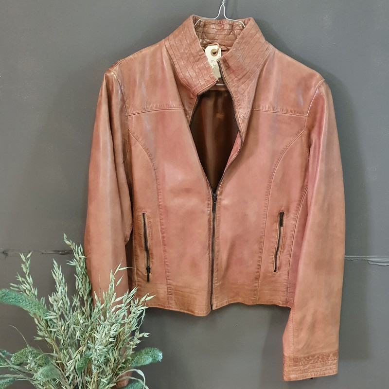 Broch Leather skindjakke str. 42