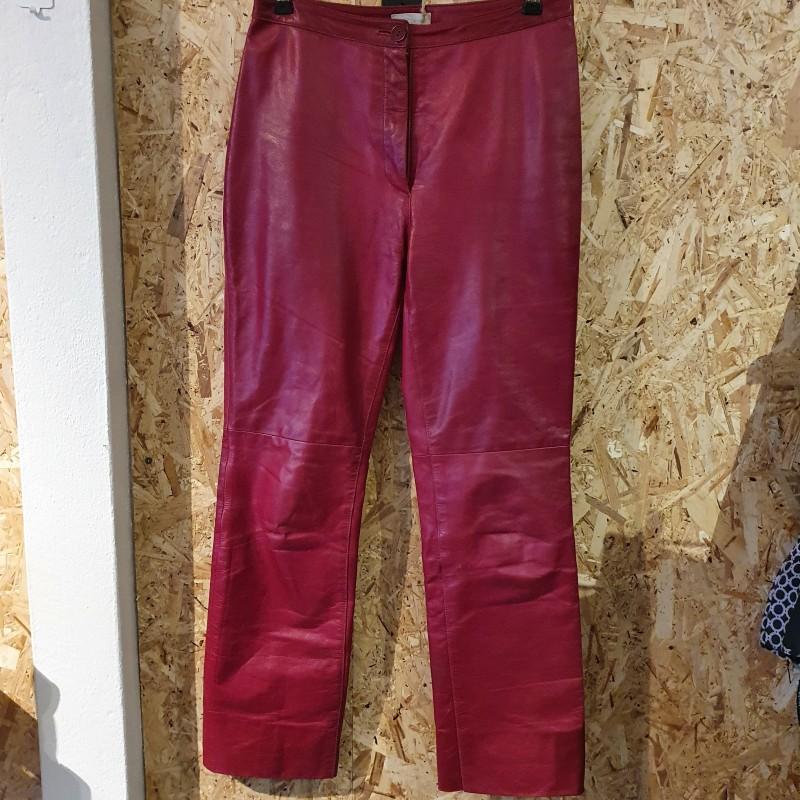 Røde skind bukser str. m