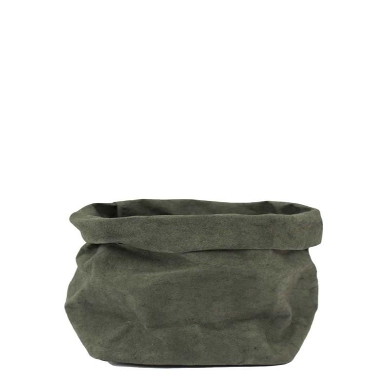 Uashmama Medium Paper Bag, Dark Green