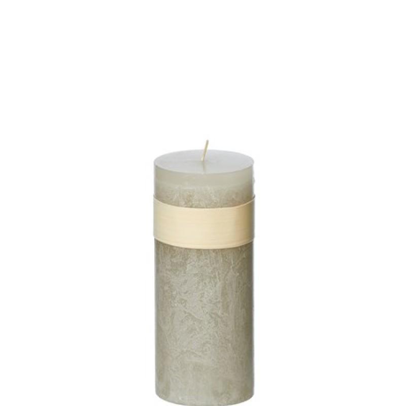 Vance Kitira Timber Candle, Smoky Grey 5x15 cm