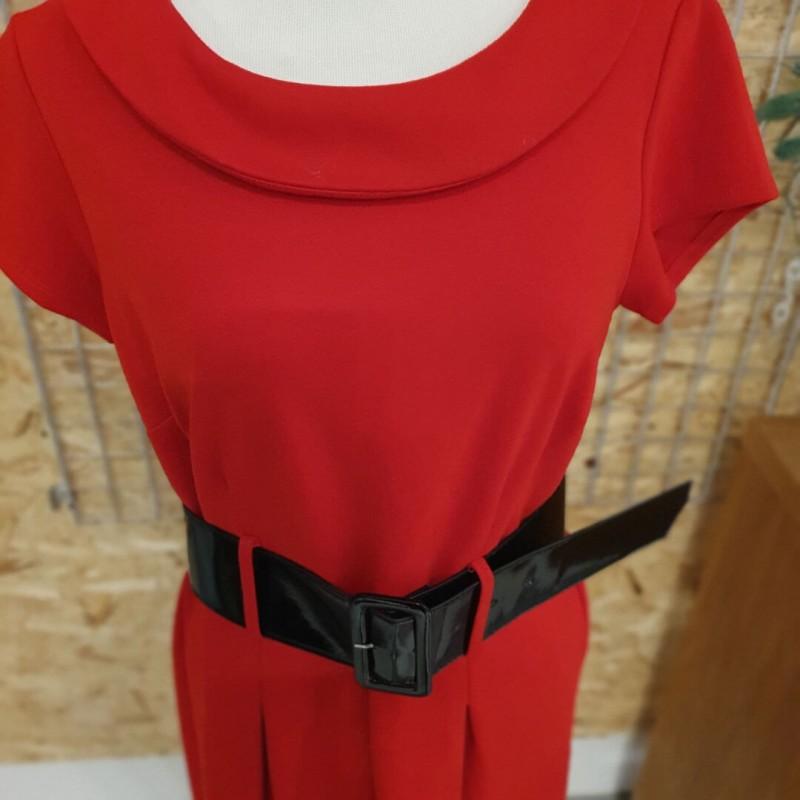 Adrienne Vittadini kjole med bælt, str. S