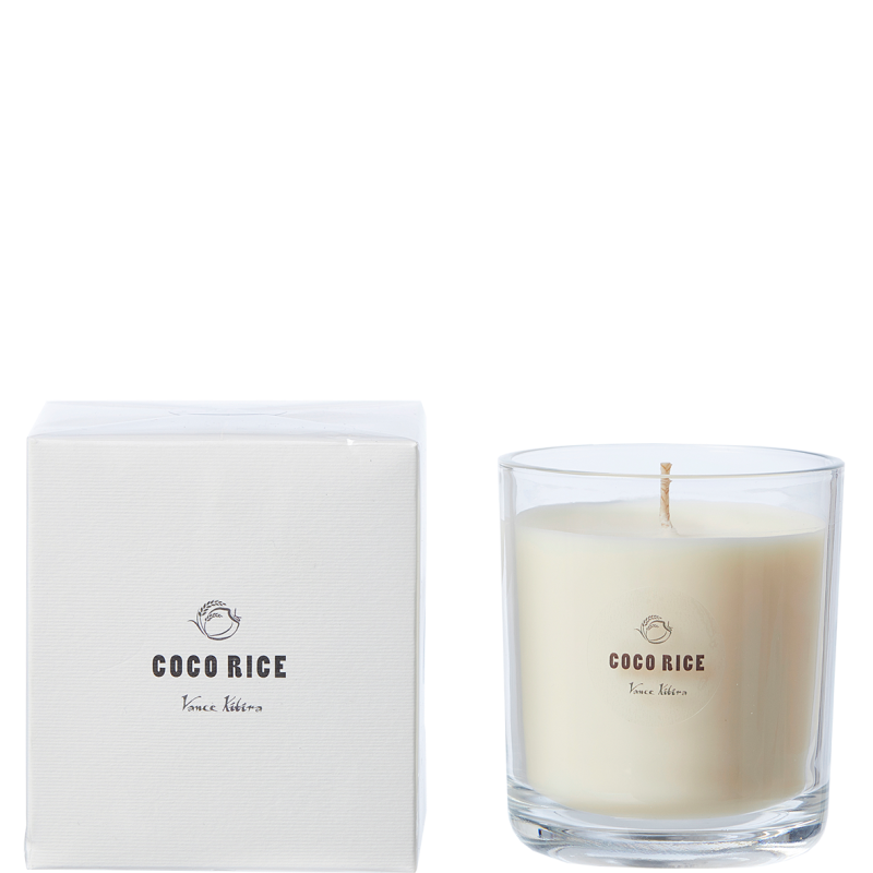 Coco rice wax scented candle